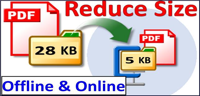 reduce pdf size to 200kb