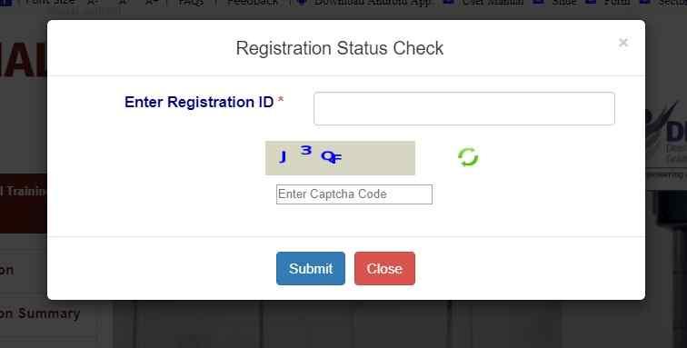Kaushal Panjee Registration Status Check